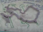 نقشه ایران بزرگ در ایستگاه مترو استکهلم+عکس
