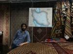فروش فرش ایرانی به همراه نقشه ایران در فروشگاه IKEA استکهلم